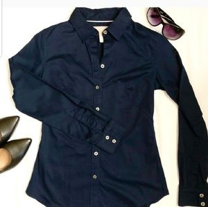 Banana Republic Non Iron Fitted Shirt Navy